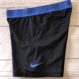NIKE Dri-Fit black & blue spandex SHORTS